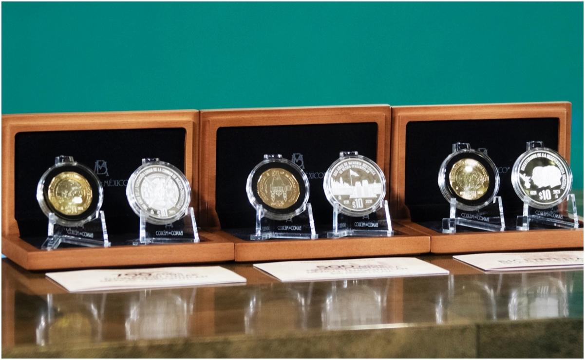 Así son las monedas para conmemorar Bicentenario de Independencia y fundación de Tenochtitlan