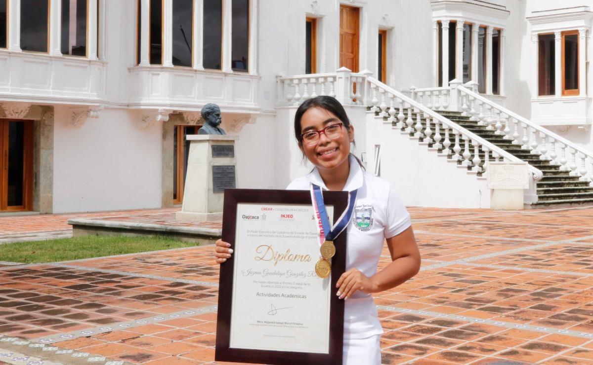 Jazmín González, Premio de la Juventud en Oaxaca por proyecto que acerca niñas a las ciencias duras