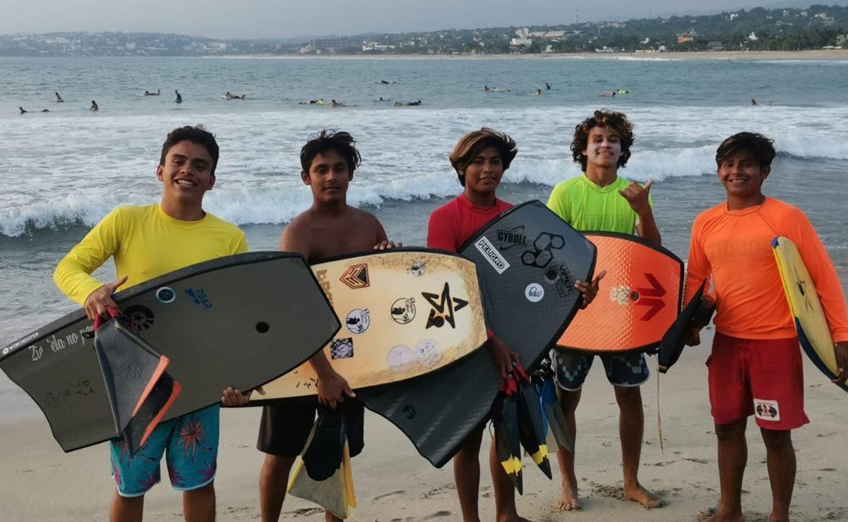 Van 16 surfistas de Oaxaca como favoritos de Juegos Nacionales Conade en Puerto Escondido