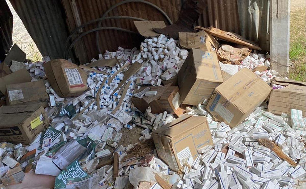 Investigarán SSO lote abandonado de medicamentos en San Antonio de la Cal, Oaxaca