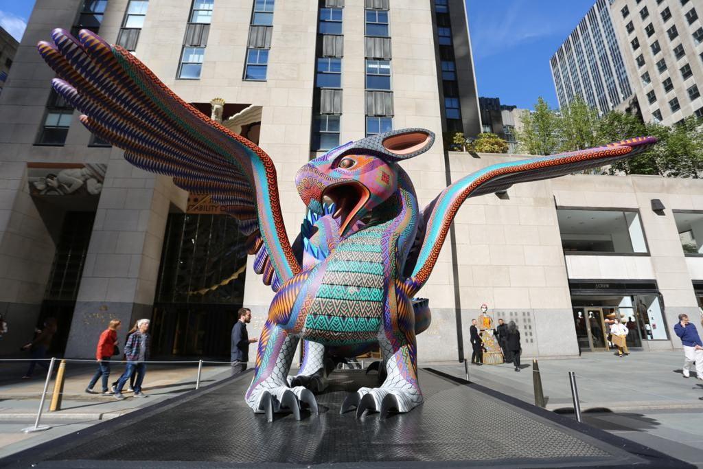 Con alebrijes monumentales y Día de Muertos, Oaxaca conquista el corazón de Nueva York