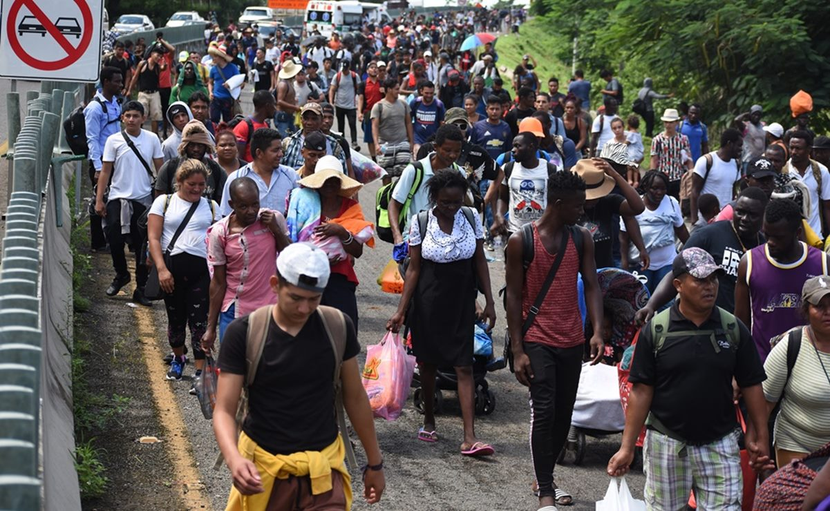Pide CNDH a gobiernos de Oaxaca, Chiapas y Tabasco atención humanitaria para caravana migrante