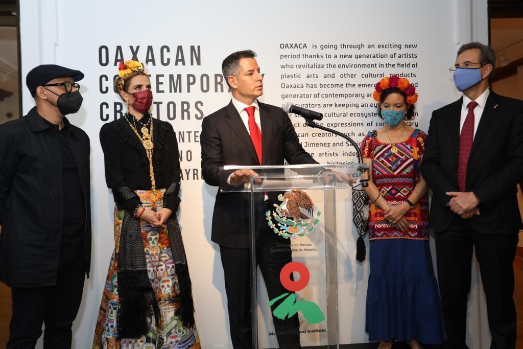 """En Washington, encabezan Murat y el embajador de México el arranque del """"Mes de Oaxaca en EU"""""""