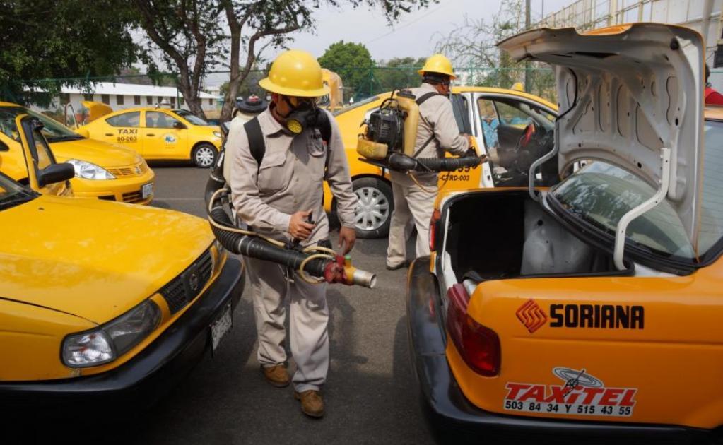 Sanitizan más de dos mil unidades de transporte público en Oaxaca ...