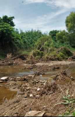 Abandono convirtió al río Los Perros en un riesgo latente de inundaciones para pueblos del Istmo de Oaxaca