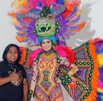 Con un traje inspirado en alebrijes, diseñador de Oaxaca ayudó a Andrea Meza a ganar Miss Universo
