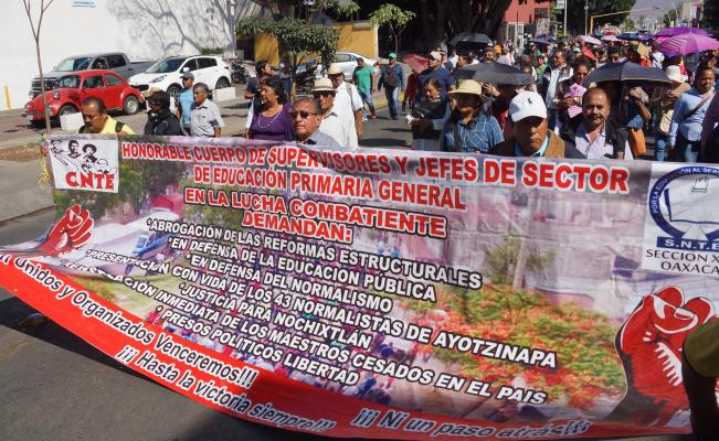 El 15 de mayo, la Sección 22 marchará de Viguera al Zócalo.