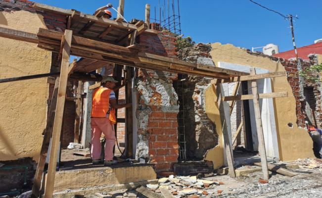Pandemia no detiene reconstrucción en inmuebles emblemáticos de Juchitán, afectados el 7-S