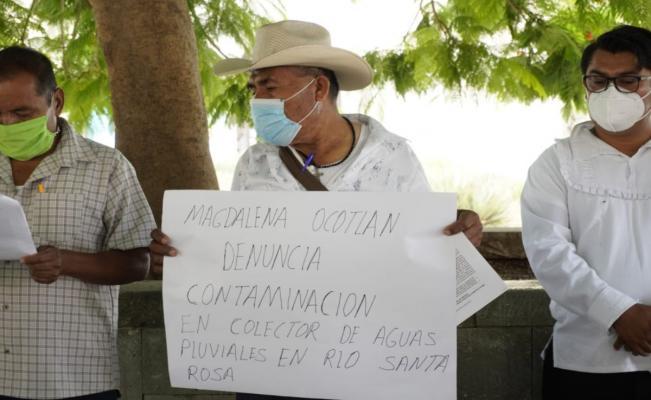 Denuncian a minera de contaminar cuerpos agua en Magdalena Ocotlán; compañía se deslina