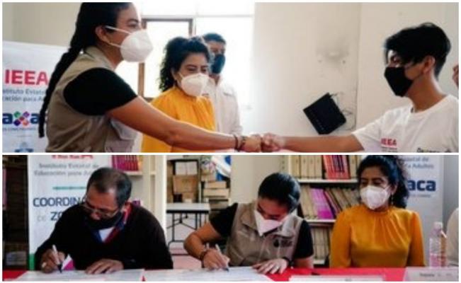 En convenio con Santa María Atzompa, IEEA brindará educación gratuita a su población adulta