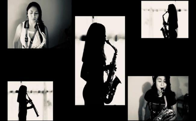 Músico oaxaqueño homenajea fuerza de María Elena en una pieza de saxafón