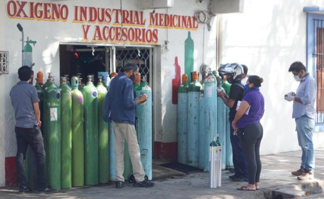 Aumento de casos de Covid-19 dispara demanda de oxígeno médico en Oaxaca; ya escasea