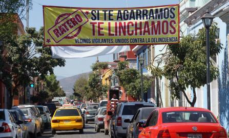 Llegan amenazas de linchamientos al Centro Histórico de Oaxaca