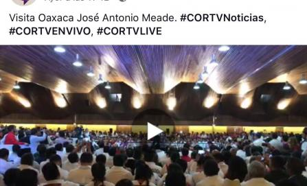 El INE inicia investigación por transmisión en Cortv de evento político