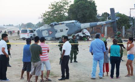 Pueblo en duelo. Suman 13 muertos por helicóptero
