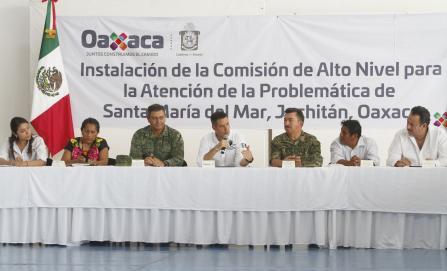 Acuerdan resolver conflicto agrario en zona huave de Oaxaca