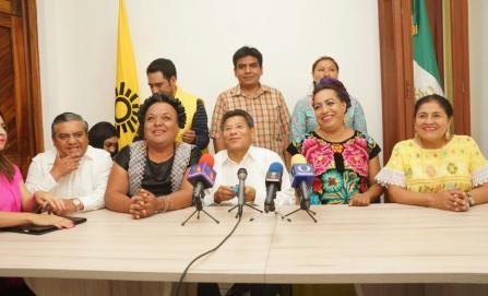 Presentan a candidatas a diputadas locales Muxes