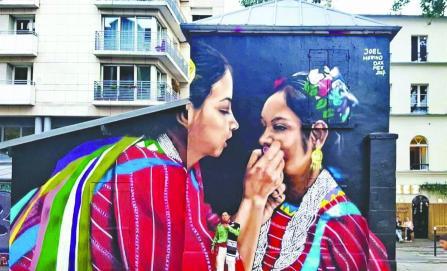 Pintor triqui lleva su arte por Europa