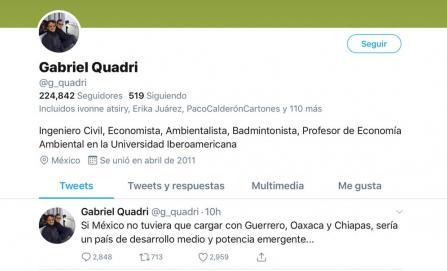 Provoca rechazo generalizado comentario de Quadri sobre Oaxaca