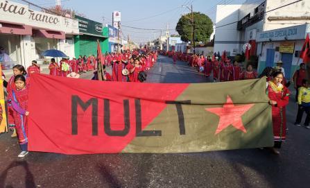 Marcha MULT en la capital, piden recursos para obra pública