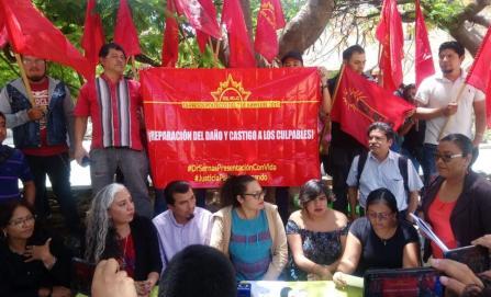 Exigen reparación del daño para 25 activistas detenidos arbitrariamente