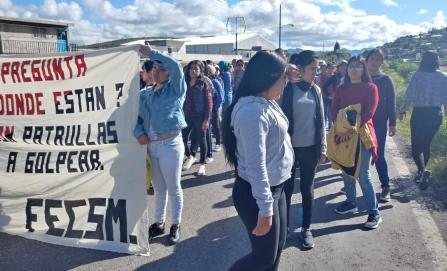Detienen a unas 50 normalistas de la Mixteca; pretendían tomar caseta de Huitzo