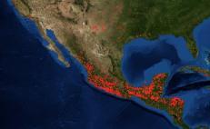El sur de México, con mayor presencia de fuego.