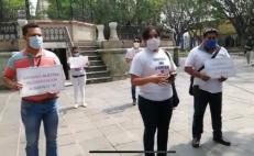 """Químicos de Oaxaca exigen """"dignificación laboral"""" y sueldos acorde a la ley"""