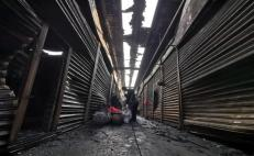Realizarán censo de locales afectados en la Central de Abasto; fuego se agravó por pirotecnia ilegal: edil