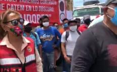 Con bloqueo en cinco puntos de acceso en el Istmo, sindicatos exigieron trabajo en obras de Transístmico