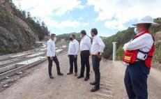 Supervisa Murat trabajos de autopista Mitla-Tehuantepec; estiman concluirla en dos años