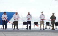 Inauguran AMLO y Murat muelle del Corredor Interoceánico; requirió una inversión de 124 millones de pesos
