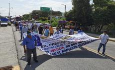 """Con caravana motorizada a la CDMX, exferrocarrileros del Istmo piden """"jubilaciones olvidadas"""" a la 4T"""