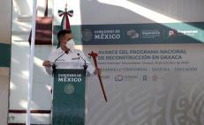 Programa de Reconstrucción registra avance del 62%, señalan en visita de AMLO al Istmo