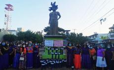 Se manifiestan zapotecas del Istmo contra la violencia hacia las mujeres