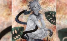 Desde el óleo o el barro, joven de la Sierra Sur consolida su arte con la tristeza de demonios