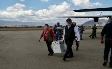 Llega a Oaxaca segundo lote de vacunas contra Covid-19; son 3 mil 900 dosis para personal de salud