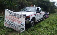 Por tercer día, campesinos mixes de 3 municipios de Oaxaca protestan contra el Corredor Interoceánico