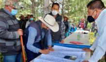 Con firma de convenio, comunidades de la Mixteca de Oaxaca ponen fin a 50 años de conflicto agrario