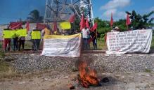Con bloqueos en carreteras y vías del tren, organizaciones del Istmo conmemoran 529 años de resistencia