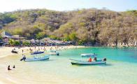 En Huatulco suspende navegación turística por coronavirus