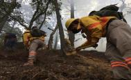Se mantienen activos tres incendios forestales en Oaxaca, fallecidos por el fuego suben a 6 en la Mixteca