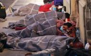 En plena fase 3, cientos de campesinos duermen en calles de la capital para cobrar apoyos federales