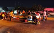 Policías viales de Oaxaca, en estado de ebriedad, atropellan a dos repartidores de Didi