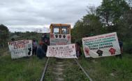 Campesinos indígenas de Oaxaca suspenden obras del Tren Transístmico en sus tierras
