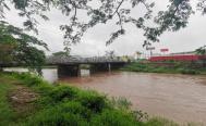 Por fuertes lluvias, se desbordan ríos y arroyos en el Istmo de Tehuantepec, Oaxaca