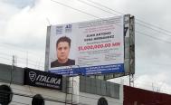 Con espectaculares con recompensa de 1 mdp, buscan dar con quinto agresor de María Elena
