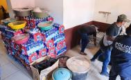 Damnificados de La Ventosa, en el Istmo de Oaxaca, reciben agua, despensas y hasta una res para comer
