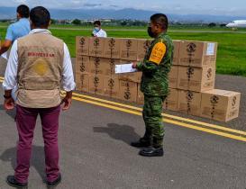 Reportan 10 nuevos decesos por Covid-19 en Oaxaca; arriban 59 mil 670 segundas dosis Pfizer