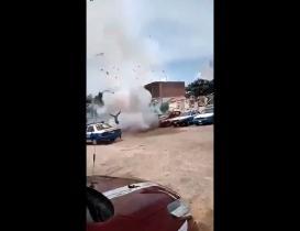 Explota pirotecnia en sepelio de líder transportista de Confederación Joven en Oaxaca; no hay heridos